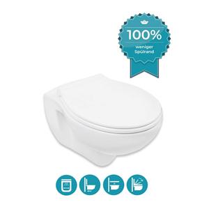 Calmwaters spülrandloses Hänge-WC Set mit WC-Sitz Toilette kaufen