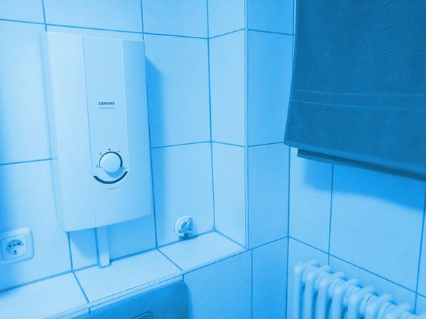 Durchlauferhitzer im Badezimmer