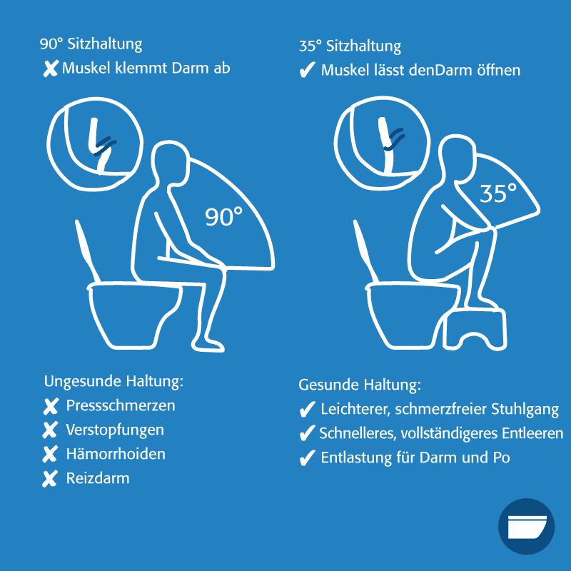 """Infografik """"Toilettenhocker"""""""