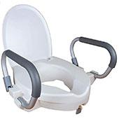 Mobiclinic Toilettensitzerhöhung mit Armlehnen und Deckel